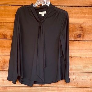 Coldwater Creek black long sleeved blouse
